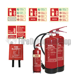 2kg ABC Dry Powder Fire Extinguisher & 2kg CO2 Fire Extinguisher