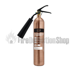 Contempo Brushed Antique Copper 2Kg Co2 Fire Extinguisher