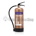 Contempo Brushed Antique Copper 6Kg ABC Dry Powder Fire Extinguisher