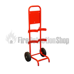 Compact Double Fire Extinguisher Trolley