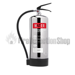 Contempo Polished Stainless Steel 6Ltr Water Fire Extinguisher