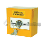 KAC yellow 3 Position Firemans Vent Extract Switch (Key Removable)