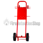 Fire Alarm Mounting Backplate for Double Fire Extinguisher Trolley With Bucket Bracket