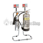 Polished Aluminium Foam & Co2 Fire Safety Pack