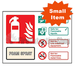Landscape Rigid Plastic AFFF Foam Fire Extinguisher Sign