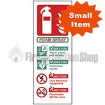 Portrait Self Adhesive AFFF Foam Fire Extinguisher Sign