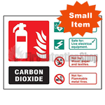 Landscape Rigid Plastic Co2 Fire Extinguisher Sign