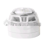 FireSmart Conventional White Sounder VAD Shallow Base w/ White Flash