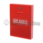 FireSmart Slimline Fire Alarm Document Cabinet w/ Latch - Red