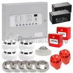 Kentec 4 Zone Fire Alarm Conventional Kit - Hochiki
