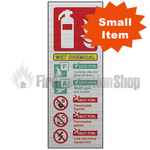 Prestige Silver Portrait Wet Chemical Fire Extinguisher Sign