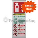 Prestige Silver Portrait Wet Chemical Fire Extinguisher Sign