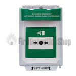 STI 13020EG Stopper Flush Mount Call Point Cover with Integral Sounder - Green