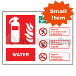Landscape Self Adhesive Water Fire Extinguisher Sign