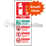 Portrait Rigid Plastic ABC Dry Powder Fire Extinguisher Sign
