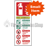 Portrait Self Adhesive Wet Chemical Fire Extinguisher Sign