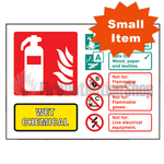 Landscape Self Adhesive Wet Chemical Fire Extinguisher Sign