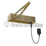 Rutland Responder 24 Electromagnetic Fire Door Closer - Polished Brass
