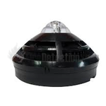 Gent S4BK-711-V-VAD-HPR Dual Optical Black Heat Sensor with Voice and High Power Red VAD