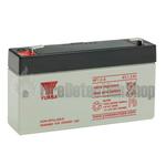 Yuasa (NP1.2-6) 6v 1.2Ah Sealed Lead Acid Battery