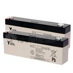 Yucel 12v 2.1Ah Battery Twin Pack