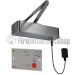 Responder 24 Electromagnetic Fire Door Closer - Satin Nickel with 24v Power Supply