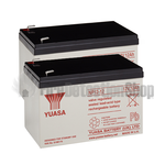 Yuasa (NP12-12) 12v 12Ah Sealed Lead Acid Batteries (Pack of 2)