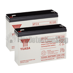 Yuasa (NP7-6) 6v 7Ah Sealed Lead Acid Batteries (Pack of 2)