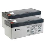Yucel 12v 3.2Ah Battery Twin Pack