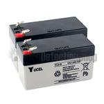 Yucel 12v 1.2Ah Battery Twin Pack