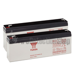 Yuasa (NP2.1-12) 12v 2.1Ah Sealed Lead Acid Batteries (Pack of 2)