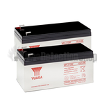 Yuasa (NP3.2-12) 12v 3.2Ah Sealed Lead Acid Batteries (Pack of 2)