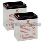 Yuasa (NP4-12) 12v 4Ah Sealed Lead Acid Batteries (Pack of 2)