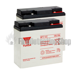 Yuasa (NP17-12) 12v 17Ah Sealed Lead Acid Batteries (Pack of 2)