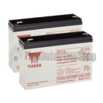 Yuasa (NP12-6) 6v 12Ah Sealed Lead Acid Batteries (Pack of 2)