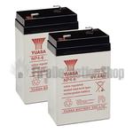 Yuasa (NP4-6) 6v 4Ah Sealed Lead Acid Batteries (Pack of 2)