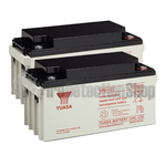 Yuasa (NP65-12) 12v 65Ah Sealed Lead Acid Batteries (Pack of 2)