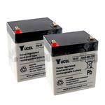 Yucel 12v 4Ah Battery Twin Pack