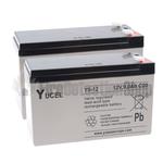 Yucel 12v 9.0Ah Battery Twin Pack