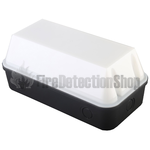 110V/240V 8W LED Bulkhead w/ Black Base & Opal Diffuser