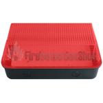 110V/240V 8W LED Bulkhead w/ Black Base & Red Diffuser
