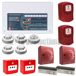 C-Tec 2 Zone Fire Alarm Conventional Kit - Apollo Protocol w/ Voice Evacuation