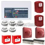 C-Tec 4 Zone Fire Alarm Conventional Kit - Apollo Protocol w/ Voice Evacuation