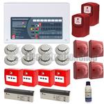 4 Zone Contractor Fire Alarm Kit w/ Voice Evacuation