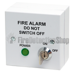 Identifire Mains Isolator Key Switch, Surface Mount, White 10-2310WST-S