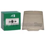 STI Reset Green Break Glass Door Release w/ Lift Up Protective Cover