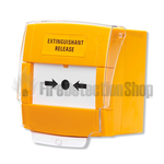 C-Tec BF372 Yellow Extinguishant Release Call Point, Surface