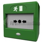 Paxton Weatherproof Green Break Glass Door Release w/ Lift Up Cover