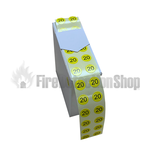 Yellow Fire Extinguisher 2020 Gauge Dots (x1000)