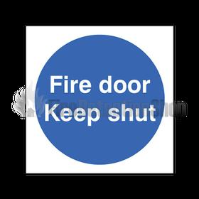 Rigid plastic fire door keep shut sign for 1 2 shut the door